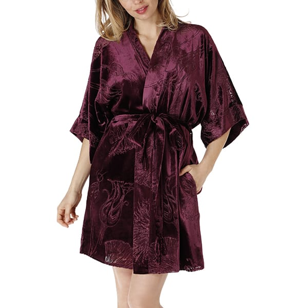 The Faberge Short Velvet Robe