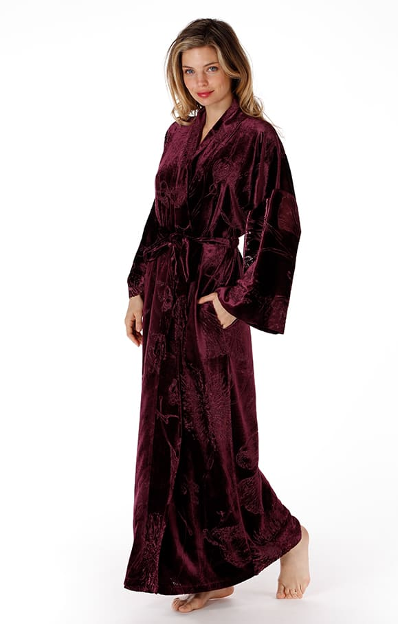 long velvet robe, christine lingerie, made in canada, luxury lingerie, lingerie addict, valentines day lingerie