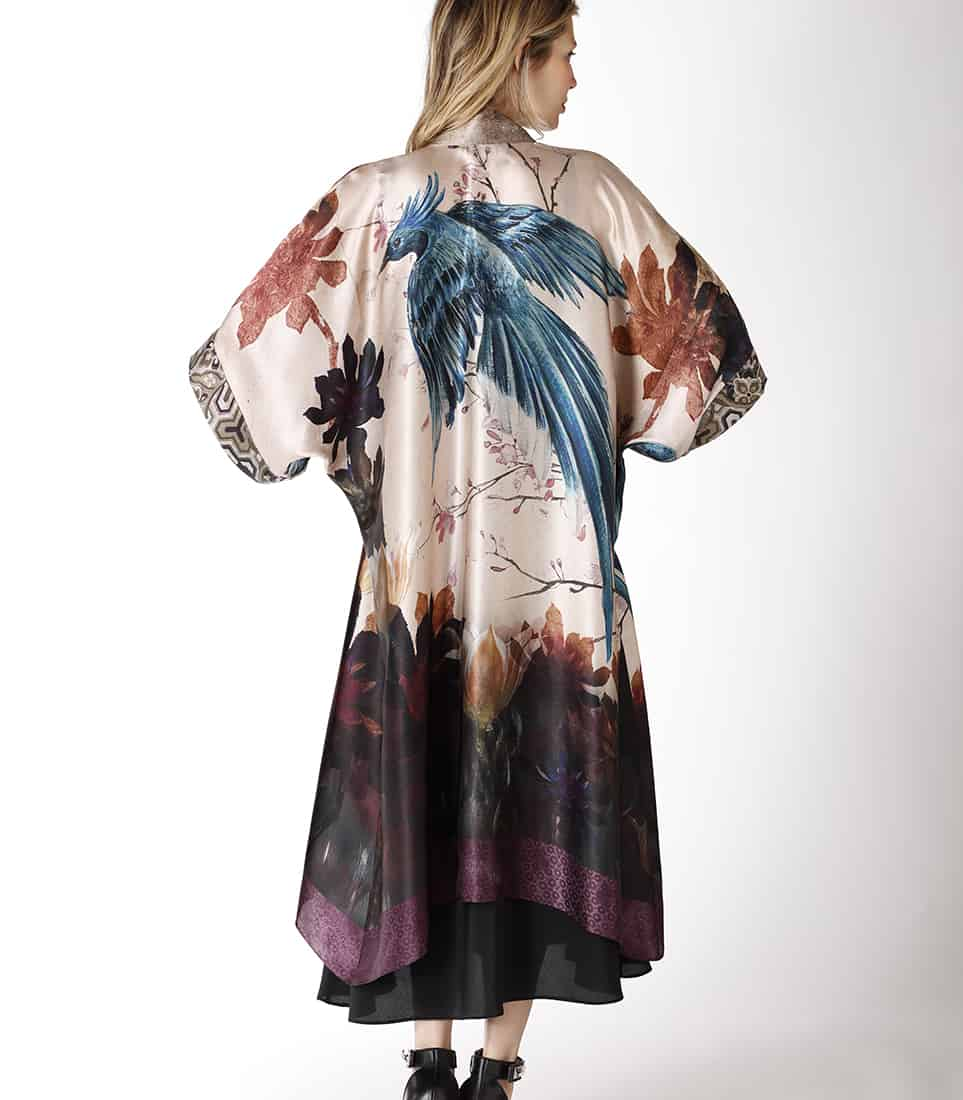 silk kimono, christine lingerie, solitude collection, silk loungewear, kimono, silk pants, silk loungewear