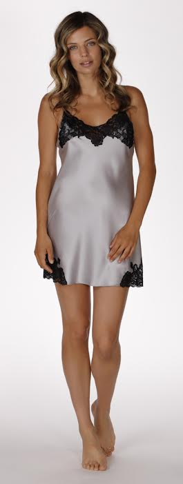 Muse chemise in stardust, silk lingerie, silk chemise, made in canada, christine lingerie