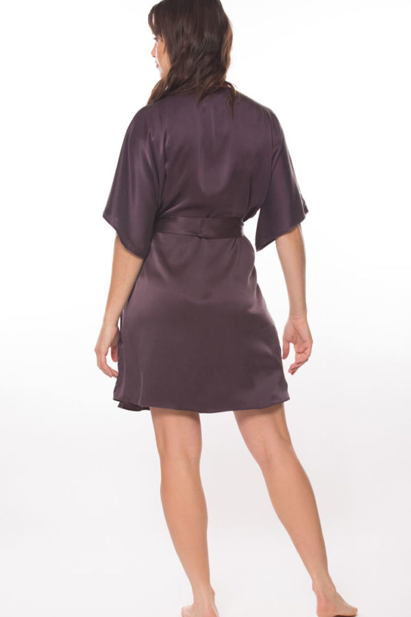 Sandwashed Silk Short Robe
