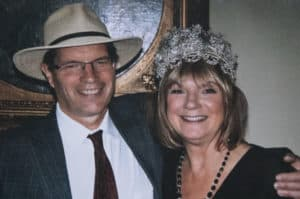 Christine Morton and her late husband, David Farris.