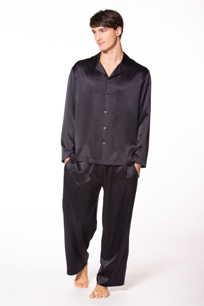 mens silk pajamas, silk pjs, christine lingerie