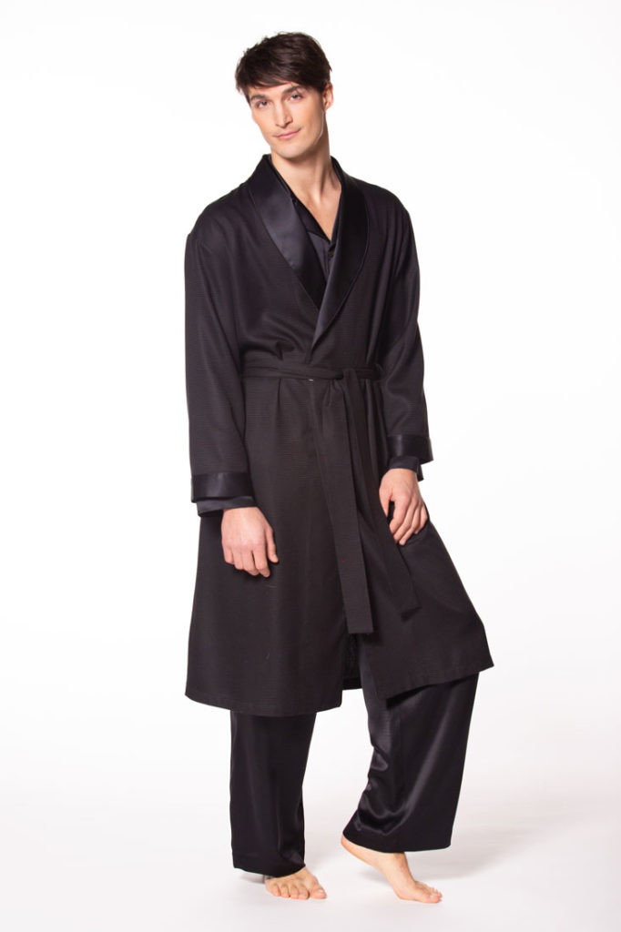 mens silk robe, christine lingerie, mens silk pajamas