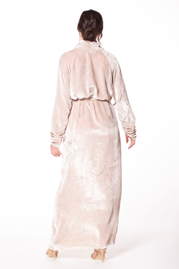 Rose Quartz Fabergé Velvet Long Robe