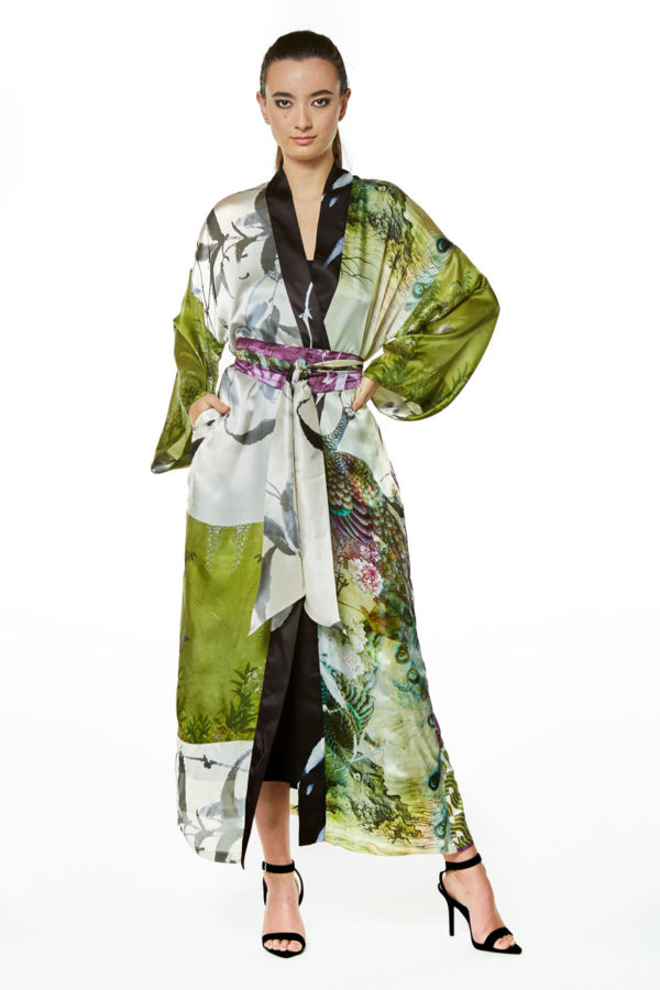 Peacock Gatsby Long Robe